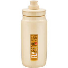 Elite Fly Bidon 550ml, beige/brown logo